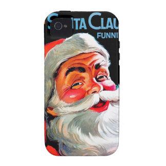 Papá Noel Funnies - retrato iPhone 4 Funda