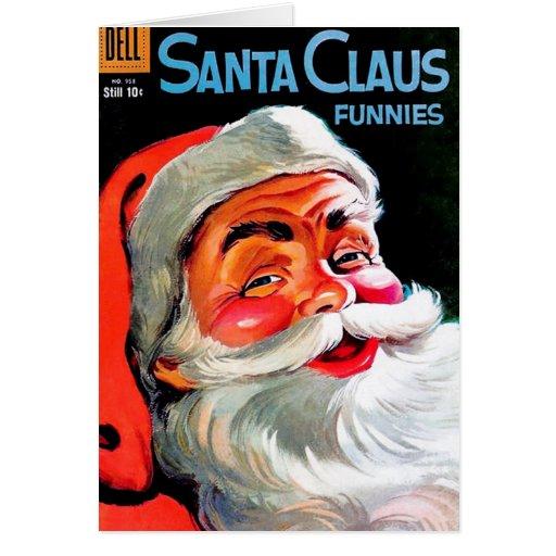 Papá Noel Funnies - retrato Tarjeta De Felicitación