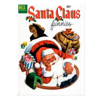 Papá Noel Funnies - sistema del tren Postales