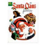 Papá Noel Funnies - sistema del tren Tarjetas Postales