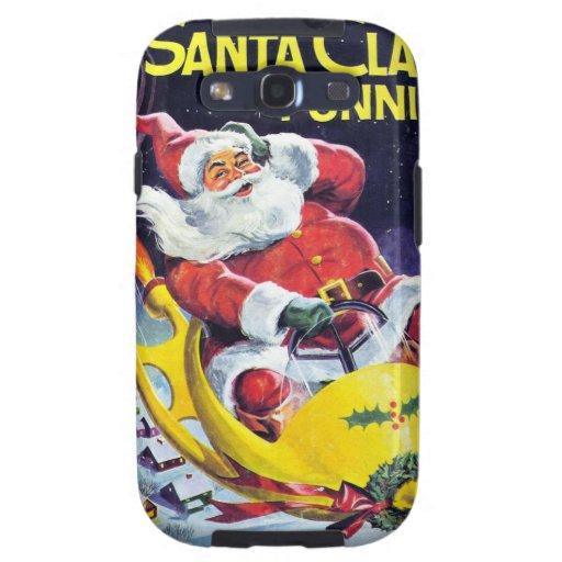 Papá Noel Funnies - trineo de Rocket Galaxy S3 Cobertura