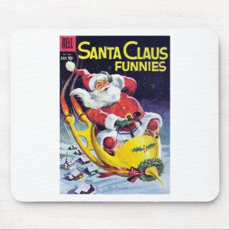Papá Noel Funnies - trineo de Rocket Mousepad