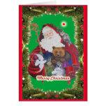 Papa Noel Greeting Card