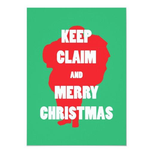 Papá Noel guarda demanda y la feliz invitación de
