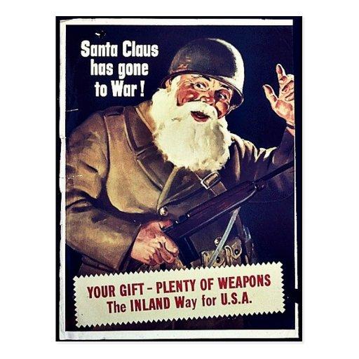 Papá Noel ha ido a la guerra Tarjeta Postal