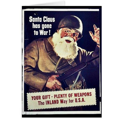 Papá Noel ha ido a la guerra Tarjetón