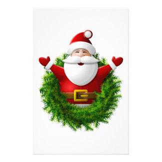Papá Noel hace estallar fuera de una guirnalda del Papeleria Personalizada