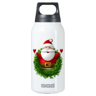 Papá Noel hace estallar fuera de una guirnalda del