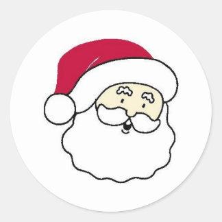 Papá Noel hace frente Etiqueta