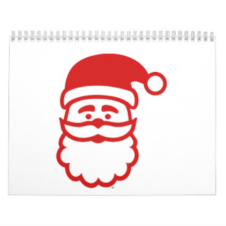 Papá Noel hace frente Calendarios