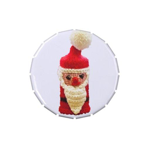 Papá Noel hecho punto Frascos De Caramelos