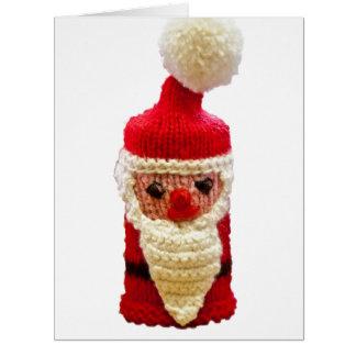 Papá Noel hecho punto Tarjeta