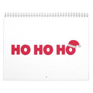 Papá Noel Ho Ho Ho Calendario