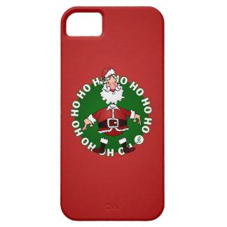Papá Noel Ho Ho Ho iPhone 5 Carcasas