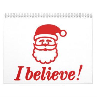 Papá Noel I cree Calendario De Pared