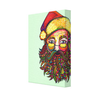 Papá Noel Impresión En Lienzo