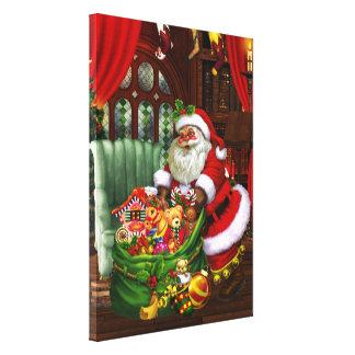 ¡Papá Noel Impresión estirada de la lona Lienzo Envuelto Para Galerias