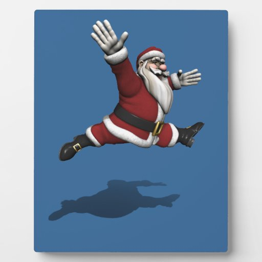 Papá Noel Jete magnífico Placas Para Mostrar