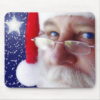 Papá Noel le está mirando Tapetes De Ratón