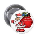 Papá Noel lindo con navidad del bolso del juguete Pin