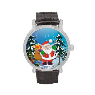Papá Noel lindo Relojes De Mano