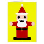 Papá Noel lindo Tarjeton