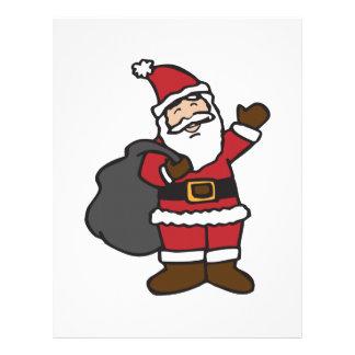 Papá Noel Membrete A Diseño