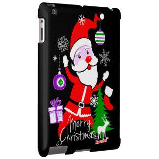 Papá Noel Merry Christmas by Cisco de fra Evans ™ Funda Para iPad
