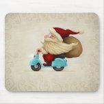 Papá Noel motorizado Tapetes De Raton