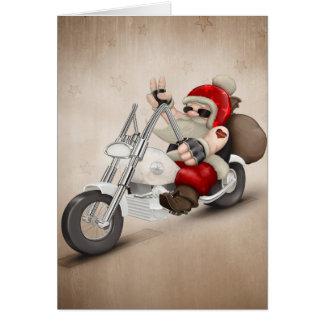 Papá Noel motorizado Tarjeta De Felicitación