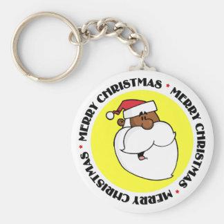 Papá Noel negro Llavero Personalizado