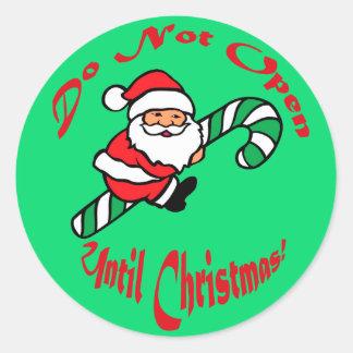 Papá Noel no abre el regalo Pegatinas Redondas