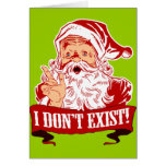 Papá Noel no existe Tarjeta