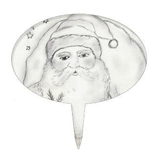 Papá Noel pasado de moda Decoraciones Para Tartas