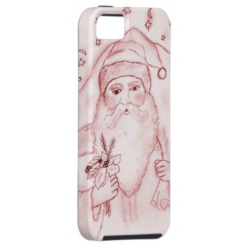 Papá Noel pasado de moda en rojo Funda Para iPhone 5 Tough
