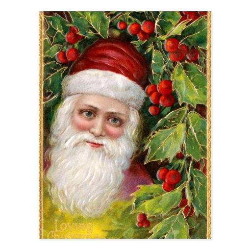 Papá Noel pasado de moda Postales