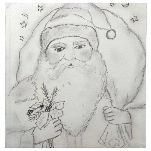 Papá Noel pasado de moda Servilletas