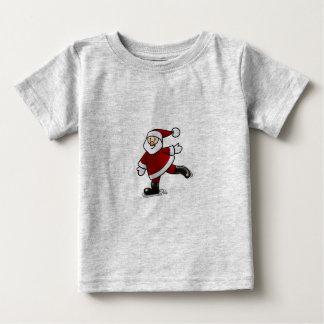 Papa Noel Patinando Baby T-Shirt