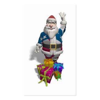 Papá Noel patriótico Tarjetas De Visita