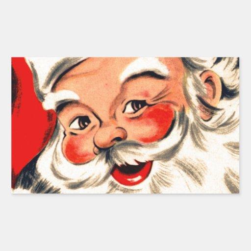 Papá Noel Pegatina Rectangular