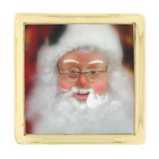 Papá Noel Pins Dorados