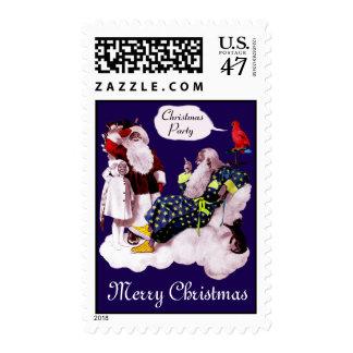 PAPÁ NOEL, POCA fiesta de Navidad del ÁNGEL y de Timbre Postal