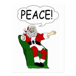 Papá Noel: Postal de la paz