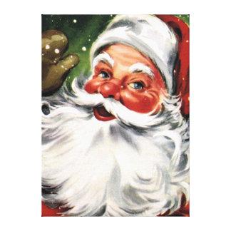 Papá Noel que agita Impresión En Lienzo