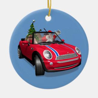 Papá Noel que conduce un mini Ornamento Para Reyes Magos