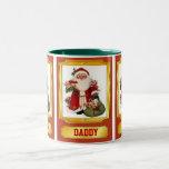 Papá Noel que desea la taza