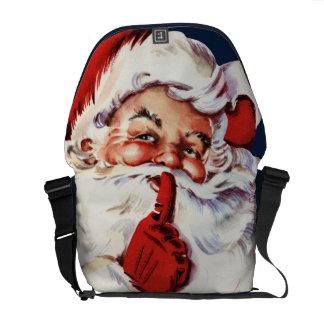 Papá Noel que dice el SH-H-h Bolsa Messenger