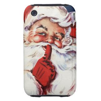 Papá Noel que dice el SH-H-h Tough iPhone 3 Fundas