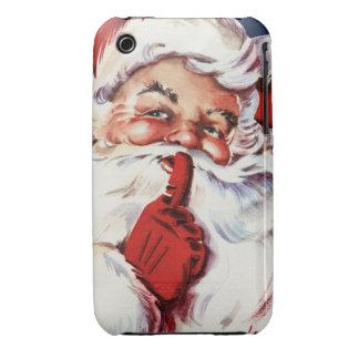 Papá Noel que dice el SH-H-h Case-Mate iPhone 3 Fundas