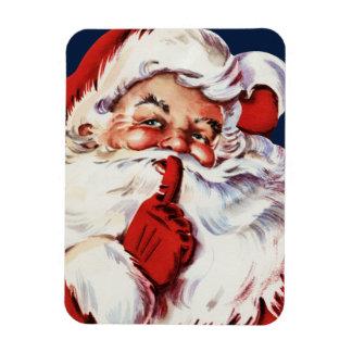 Papá Noel que dice el SH-H-h Imán